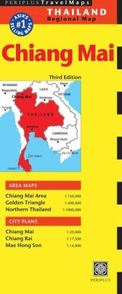 Chiang Mai Travel Map Third Edition