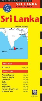 Sri Lanka Travel Map Second Edition