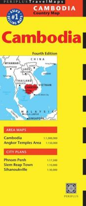 Cambodia Travel Map Fourth Edition