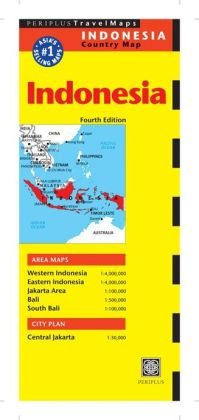 Indonesia Travel Map Fourth Edition