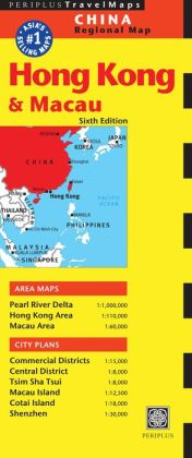 Hong Kong & Macau Travel Map Sixth Edition