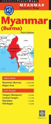 Myanmar Travel Map Third Edition