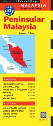 Peninsular Malaysia Travel Map Seventh