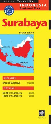 Surabaya Travel Map Fourth Edition