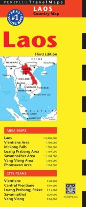 Laos Travel Map Third Edition