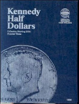 Whitman Kennedy Half Dollars #3 Folder 2004