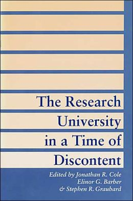 The Research University in a Time of Discontent