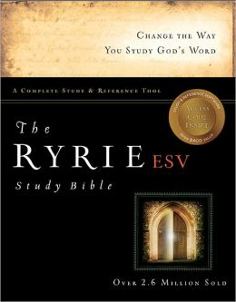 The Ryrie ESV Study Bible Hardcover- Red Letter Indexed
