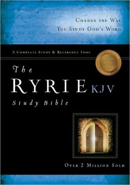Ryrie KJV Study Bible Bonded Leather Black- Red Letter
