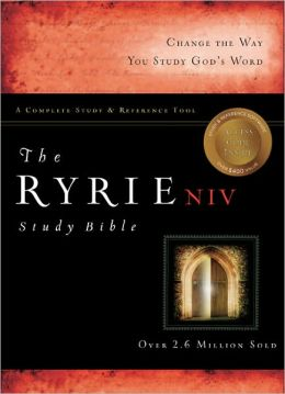 Ryrie NIV Study Bible Genuine Leather Burgundy- Red Letter