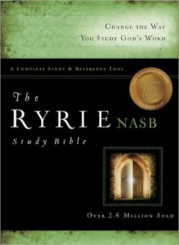 Ryrie NAS Study Bible Genuine Leather Black- Red Letter Indexed