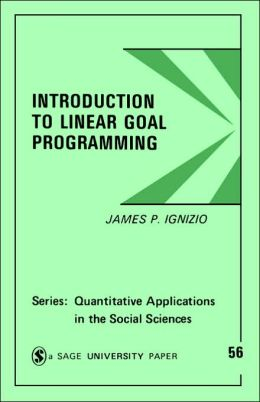 Introduction to Linear Goal Programming