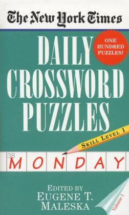 The New York Times Daily Crossword Puzzles: Monday, Level 1