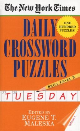 The New York Times Daily Crossword Puzzles: Tuesday, Level 2