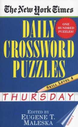 The New York Times Daily Crossword Puzzles: Thursday, Level 4