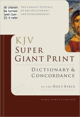 KJV Super Giant Print Dictionary and Concordance