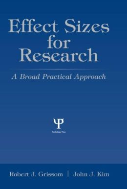 Effect Sizes for Research A Broad Practical Approach