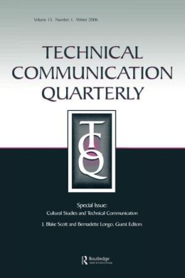 Cultural Studies And Technical Communication Tcq V15#1