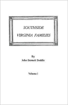 Southside Virginia Families, Volume I