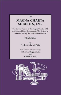The Magna Charta Sureties, 1215. Fifth Edition