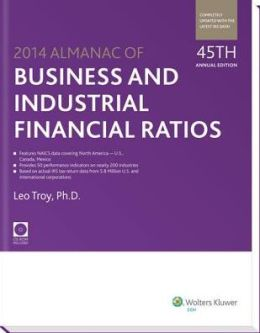 Almanac of Business and Industrial Financial Ratios [With CDROM]