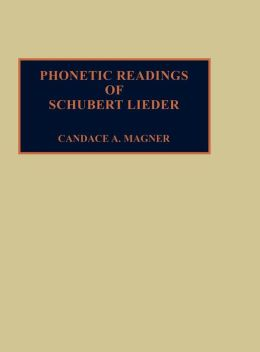 Phonetic Readings Of Schubert Lieder