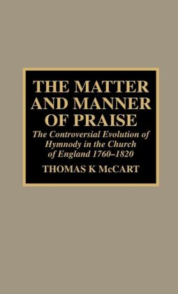 Matter And Manner Of Praise
