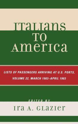 Italians To America, Volume 22