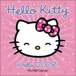 2008 Hello Kitty Mini Wall Calendar
