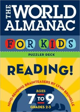 The World Almanac for Kids Puzzler Deck: Reading: Ages 7-9, Grades 2-3