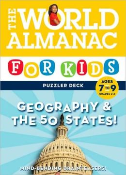 The World Almanac for Kids Puzzler Deck: Geography & the 50 States, Ages 7-9, Grades 2-3
