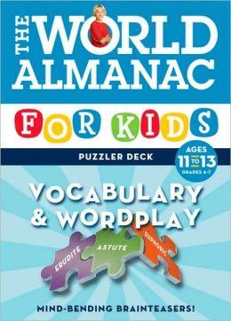 World Almanac Puzzler Deck: Vocabulary & Wordplay Ages 11-13 - Grades 6-7