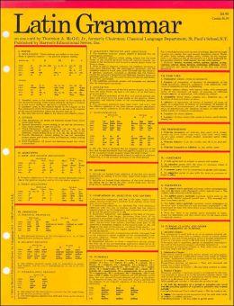 Latin Grammar (Barron's Card Guides Series)