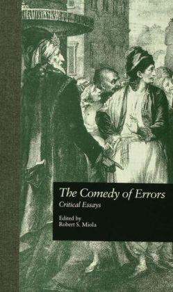 The Comedy of Errors: Critical Essays