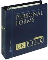 Personal Forms on File 2003