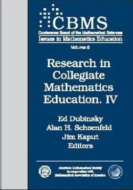 Research in Collegiate Mathematics Education. IV