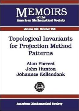 Topological Invariants for Projection Method Patterns