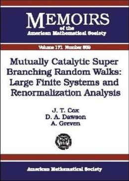 Mutually Catalytic Super Branching Random Walks: Large Finite Systems and Renormalization Analysis