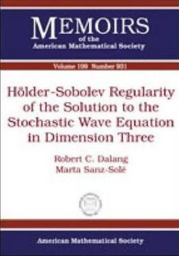 Holder-Sobolev Regularity of the Solution to the Stochastic Wave Equation in Dimension Three