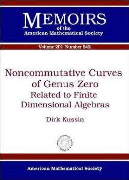 Noncommutative Curves of Genus Zero: Related to Finite Dimensional Algebras