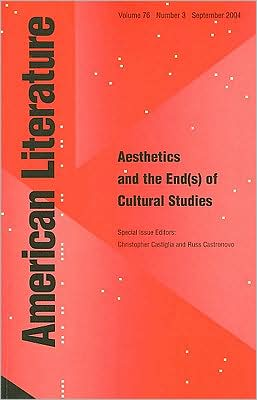 Aesthetics and the End(s) of American Cultural Studies