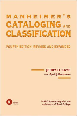 Manheimer's Cataloging and Classification