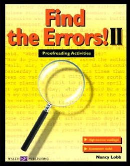 Find the Errors! II: Proofreading Activities