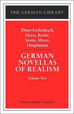 German Novellas Of Realism, Ii