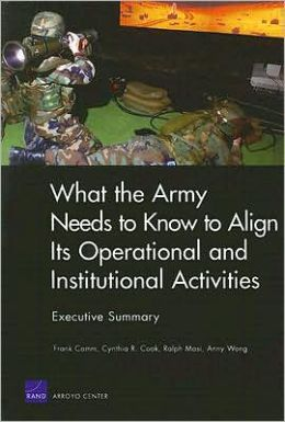What the Army Needs to Know to Align Its Operational and Institutional Activities, Executive Summary (2006)