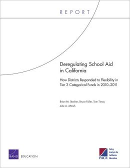 Deregulating School Aid in California: How Districts Responded to Flexibility in Tier 3 Categorical Funds in 2010-2011