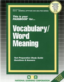 Civil Service Vocabulary: Test Preparation Study Guide