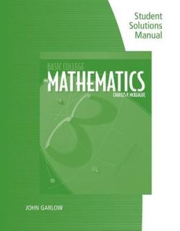 Student Solutions Manual for Mckeague's Basic College Mathematics: A Text/Workbook, 3rd