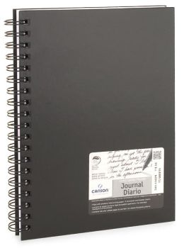 Black Lined Canson Journal 7x10