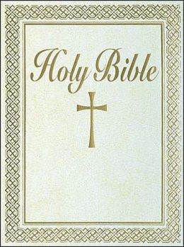 Family Bible: New American Bible (NAB), white imitation leather